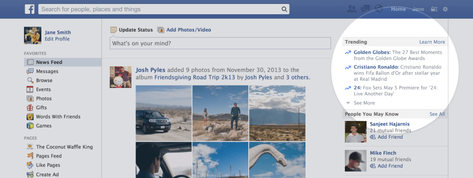 Trending facebook posts for small business
