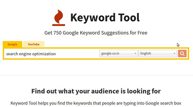 Keyword Tool for Reasarch and Analysis