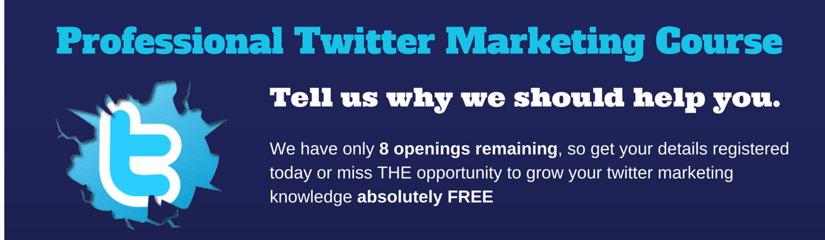 FREE TWITTER MARKETING COURSE