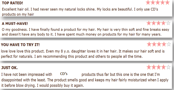 Reviews of a product