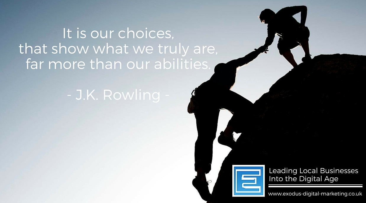It is our choices, that show what we truly are, far more than our abilities. - J.K. Rowling