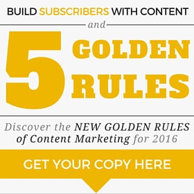 Increase email list and subscribers with these content marketing rules