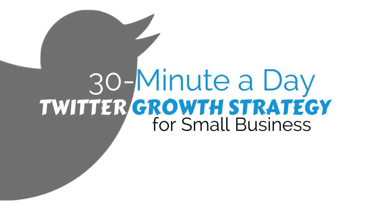 Image of Twitter Icon. Caption: Twitter Small Business Growth Strategy